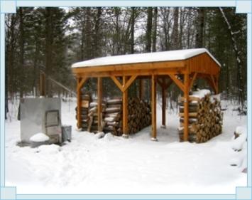 Winter on Hardy Outside Wood Furnace